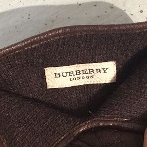 Burberry Accessories - Burberry Plaid Lambskin & Cashmere Driving Gloves